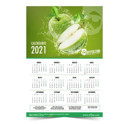 Calendarios de Pared anual en una lámina