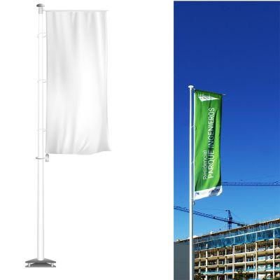 Mástil de fibra de vidrio para banderas
