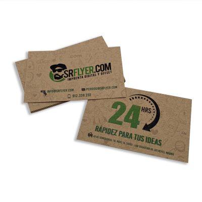 Tarjetas de visita papel kraft