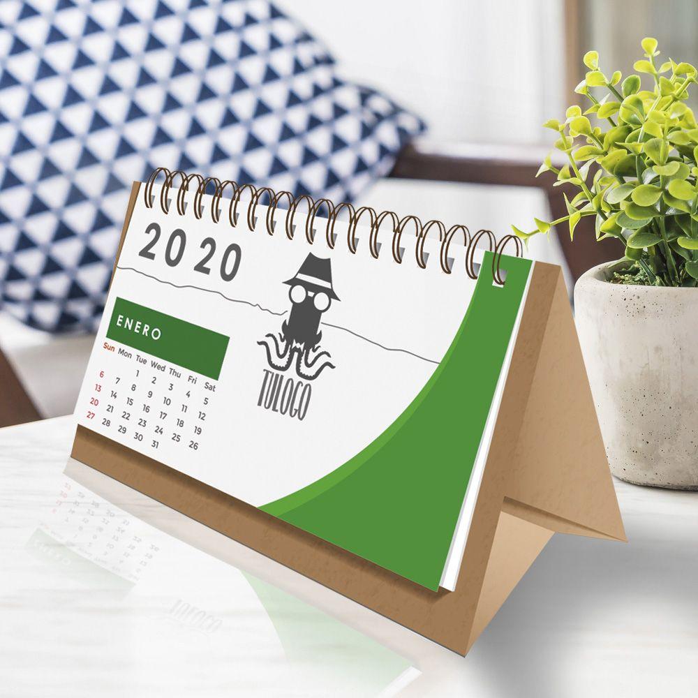 calendario mesa con espiral