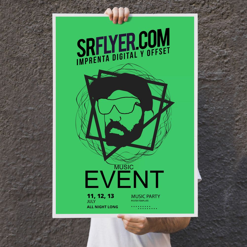 posters color verde neón