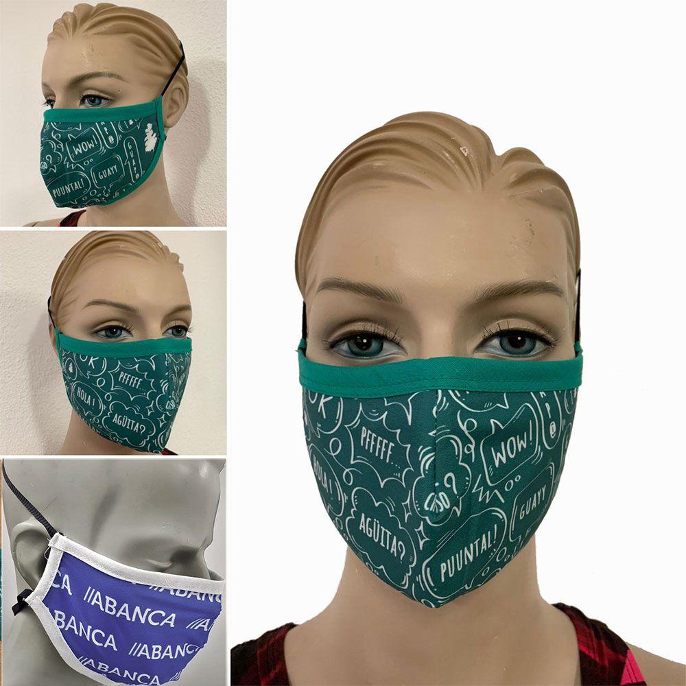 Mascarillas de tela doble capa personalizadas