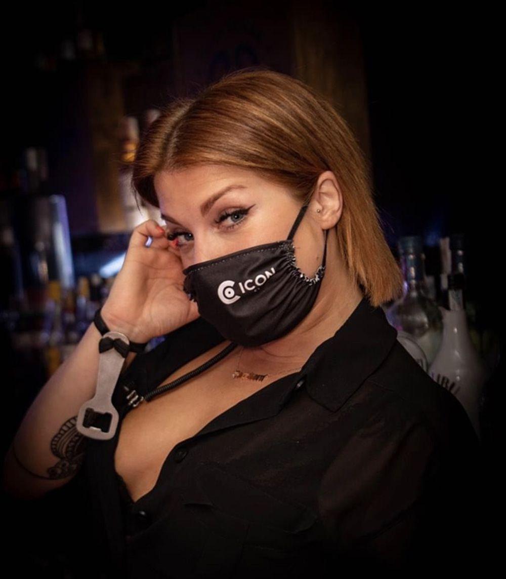 mascarillas personalizadas tela negra
