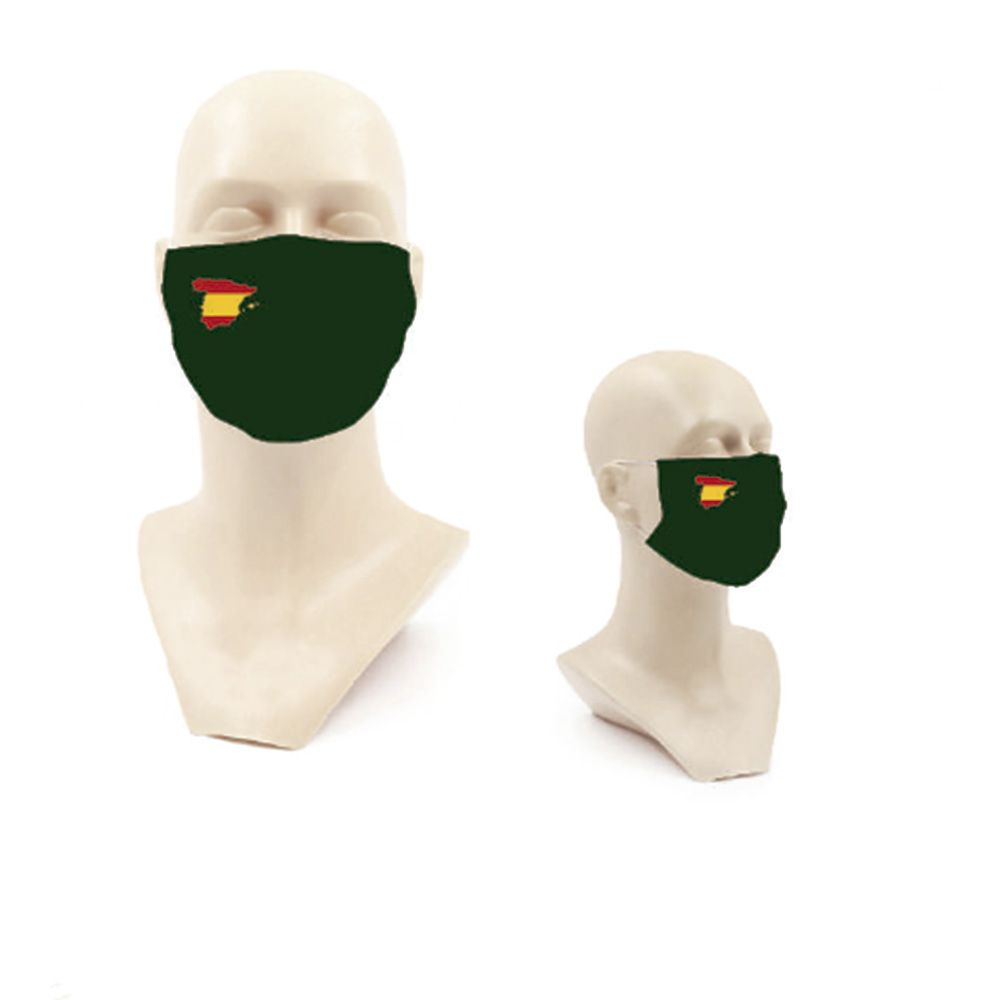 mascarillas verdes bandera españa