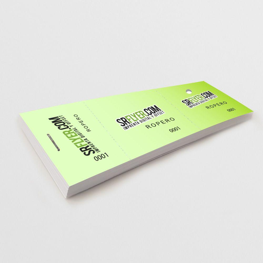 Tickets guadarropa