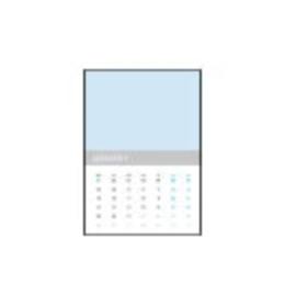Calendario pared mes